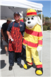 Chief Swaney and Sparky the Fire Dog at 2019 La Mesa Pancake Breakfast