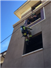 Firefighters Propelling Down Side of Wall 43