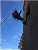 Firefighters Propelling Down Side of Wall 45