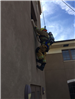 Firefighters Propelling Down Side of Wall 47
