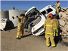 Firefighters Training on Crashed White Car 1