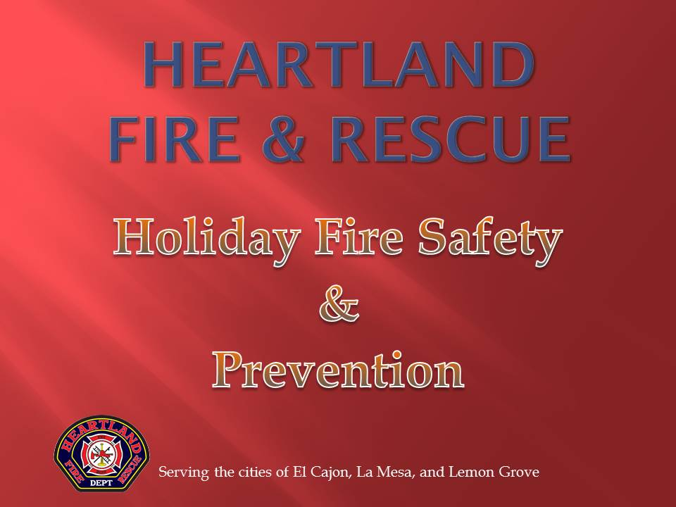 Heartland Fire & Rescue Holiday Fire Safety & Prevention Title Page