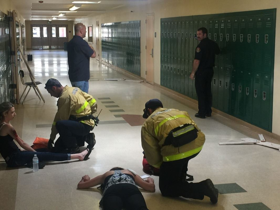 Fire and Rescue Responding to School Incident Training 3